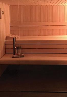 Sauna ambiance tamisée