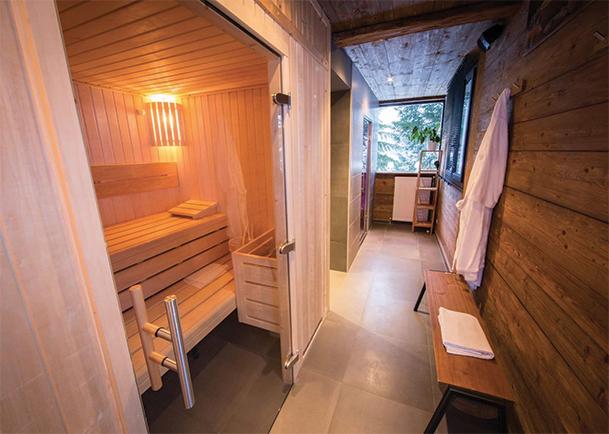 Sauna et vieux bois